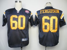 Wholesale Cheap Jets #60 D\'Brickashaw Ferguson Dark Blue With AFL 50TH Patch Stitched NFL Jersey