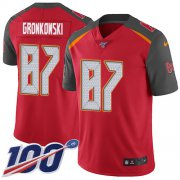 Wholesale Cheap Nike Buccaneers #87 Rob Gronkowski Red Team Color Men's Stitched NFL 100th Season Vapor Untouchable Limited Jersey
