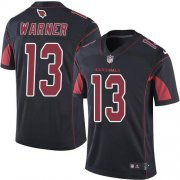 Wholesale Cheap Nike Cardinals #13 Kurt Warner Black Men's Stitched NFL Limited Rush Jersey