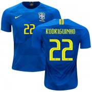 Wholesale Cheap Brazil #22 Rodriguinho Away Kid Soccer Country Jersey