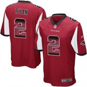 Wholesale Cheap Nike Falcons #2 Matt Ryan Red Team Color Men's Stitched NFL Limited Strobe Jersey