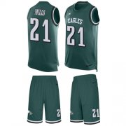 Wholesale Cheap Nike Eagles #21 Jalen Mills Green Team Color Men's Stitched NFL Limited Tank Top Suit Jersey