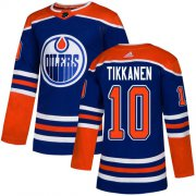 Wholesale Cheap Adidas Oilers #10 Esa Tikkanen Royal Blue Alternate Authentic Stitched NHL Jersey