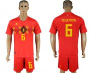 Wholesale Cheap Belgium #6 Tielemans Red Soccer Country Jersey
