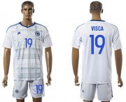 Wholesale Cheap Bosnia Herzegovina #19 Visca Away Soccer Country Jersey