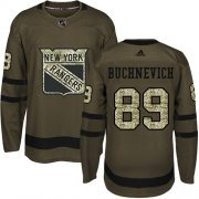 Wholesale Cheap Adidas Rangers #89 Pavel Buchnevich Green Salute to Service Stitched Youth NHL Jersey