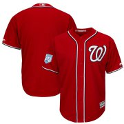 Wholesale Cheap Nationals Blank Red 2019 Spring Training Cool Base Stitched MLB Jersey