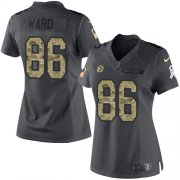Wholesale Cheap Nike Steelers #86 Hines Ward Black Women's Stitched NFL Limited 2016 Salute to Service Jersey