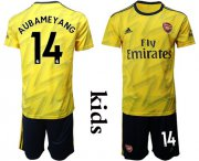 Wholesale Dortmund #17 Aubameyang Home Long Sleeves Kid Soccer Club Jersey