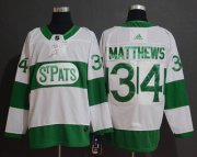Wholesale Cheap Adidas Maple Leafs #34 Auston Matthews White Authentic St. Pats Stitched NHL Jersey