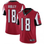 Wholesale Cheap Nike Falcons #18 Calvin Ridley Red Team Color Men's Stitched NFL Vapor Untouchable Limited Jersey