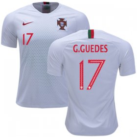 Wholesale Cheap Portugal #17 G.Guedes Away Soccer Country Jersey
