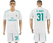 Wholesale Cheap Real Madrid #31 R.Yanez White Home Soccer Club Jersey