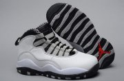 Wholesale Cheap Air Jordan 10 Retro Kids Shoes White/gray-black