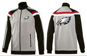 Wholesale Cheap NFL Philadelphia Eagles Team Logo Jacket Grey