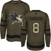 Wholesale Cheap Adidas Sharks #8 Joe Pavelski Green Salute to Service Stitched Youth NHL Jersey