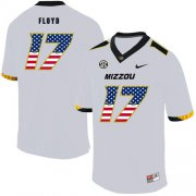 Wholesale Cheap Missouri Tigers 17 Richaud Floyd White USA Flag Nike College Football Jersey