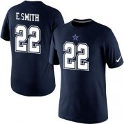 Wholesale Nike Dallas Cowboys #22 Emmitt Smith Pride Name & Number NFL T-Shirt Blue