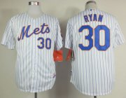 Wholesale Cheap Mets #30 Nolan Ryan White(Blue Strip) Home Cool Base Stitched MLB Jersey