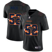 Wholesale Cheap Chicago Bears #52 Khalil Mack Men's Nike Team Logo Dual Overlap Limited NFL Jersey Black