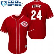 Wholesale Cheap Reds #24 Tony Perez Red Cool Base Stitched Youth MLB Jersey