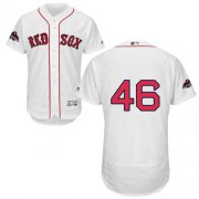 Wholesale Cheap Red Sox #46 Craig Kimbrel White Flexbase Authentic Collection 2018 World Series Stitched MLB Jersey