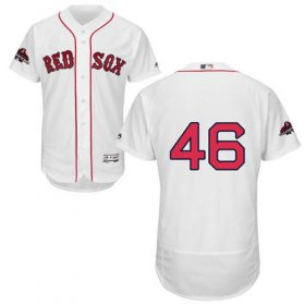 Wholesale Cheap Red Sox #46 Craig Kimbrel White Flexbase Authentic Collection 2018 World Series Champions Stitched MLB Jersey
