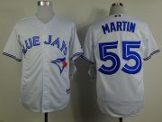 Wholesale Cheap Blue Jays #55 Russell Martin White Stitched MLB Jersey