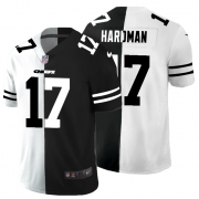 Cheap Kansas City Chiefs #17 Mecole Hardman Men's Black V White Peace Split Nike Vapor Untouchable Limited NFL Jersey
