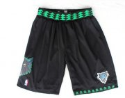 Wholesale Cheap Minnesota Timberwolves Black Swingman Short