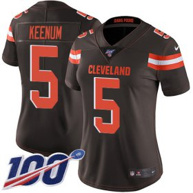 Wholesale Cheap Nike Browns #5 Case Keenum Brown Team Color Women\'s Stitched NFL 100th Season Vapor Untouchable Limited Jersey