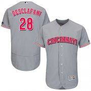 Wholesale Cheap Reds #28 Anthony DeSclafani Grey Flexbase Authentic Collection Stitched MLB Jersey