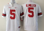 Wholesale Cheap Ohio State Buckeyes #5 Baxton Miller 2014 White Limited Jersey