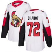 Wholesale Cheap Adidas Senators #72 Thomas Chabot White Road Authentic Stitched Youth NHL Jersey
