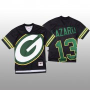 Wholesale Cheap NFL Green Bay Packers #13 Allen Lazard Black Men's Mitchell & Nell Big Face Fashion Limited NFL Jersey