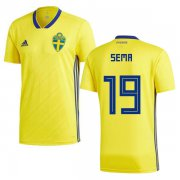 Wholesale Cheap Sweden #19 Sema Home Soccer Country Jersey