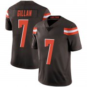 Wholesale Cheap Men's Cleveland Browns #7 Jamie Gillan Brown Limited Team Color Vapor Untouchable Nike Jersey