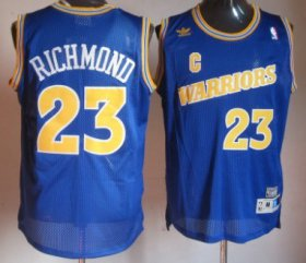 Wholesale Cheap Golden State Warriors #23 Mitch Richmond 1988-89 Blue Swingman Throwback Jersey