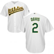 Wholesale Cheap Athletics #2 Khris Davis White Cool Base Stitched Youth MLB Jersey