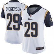 Wholesale Cheap Nike Rams #29 Eric Dickerson White Women's Stitched NFL Vapor Untouchable Limited Jersey