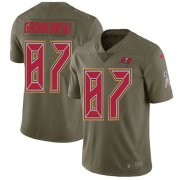 Wholesale Cheap Nike Buccaneers #87 Rob Gronkowski Olive Men's Stitched NFL Limited 2017 Salute To Service Jersey