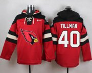 Wholesale Cheap Nike Cardinals #40 Pat Tillman Red Player Pullover NFL Hoodie
