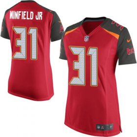 Wholesale Cheap Nike Buccaneers #31 Antoine Winfield Jr. Red Team Color Women\'s Stitched NFL New Elite Jersey