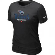 Wholesale Cheap Women's Nike Tennessee Titans Critical Victory NFL T-Shirt Black