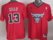 Wholesale Cheap Chicago Bulls #13 Joakim Noah Revolution 30 Swingman 2013 Christmas Day Red Jersey