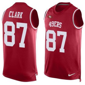 Wholesale Cheap Nike 49ers #87 Dwight Clark Red Team Color Men\'s Stitched NFL Limited Tank Top Jersey