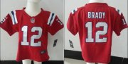 Wholesale Cheap Toddler Nike Patriots #12 Tom Brady Red Alternate Stitched NFL Elite Jersey