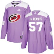 Wholesale Cheap Adidas Hurricanes #57 Trevor Van Riemsdyk Purple Authentic Fights Cancer Stitched Youth NHL Jersey