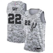 Wholesale Cheap Men's Nike San Antonio Spurs #22 Rudy Gay White Camo Basketball Swingman Earned Edition Jersey