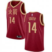 Wholesale Cheap Rockets #14 Gerald Green Red Basketball Swingman City Edition 2018-19 Jersey